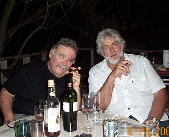 Paul Partain and Gunnar Hansen.